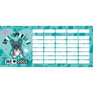 Kutyás mini órarend - We love dogs Blue