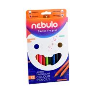 Nebuló háromszögletű Jumbo színes ceruza készlet - 12 szín/csomag