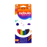 Nebuló háromszögletű színes ceruza készlet - 12 szín/csomag