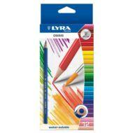 Lyra háromszögletű színes akvarell ceruza készlet - 12 db/csomag - Osiris Aquarell 2531120