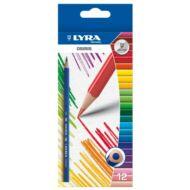 Lyra háromszögletű színes ceruza készlet - 12 db/csomag - Osiris 2521120