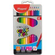 Maped háromszögletű színes ceruza készlet fém dobozban - 12 db/csomag - Color Peps