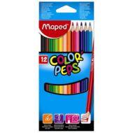 Maped háromszögletű színes ceruza készlet - 12 db/csomag - Color Peps