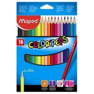 Maped háromszögletű színes ceruza készlet - 18 db/csomag - Color Peps
