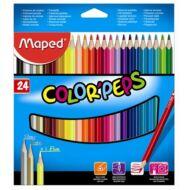 Maped háromszögletű színes ceruza készlet - 24 db/csomag - Color Peps