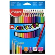 Maped háromszögletű színes ceruza készlet - 36 db/csomag - Color Peps