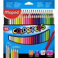 Maped háromszögletű színes ceruza készlet - 48 db/csomag - Color Peps