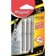 Maped Reload grafitbél patron nyomósirónhoz 0,5 mm HB - 3 töltet