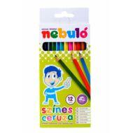 Nebuló hatszögletű színes ceruza készlet - 12 db/csomag