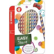 Stabilo EasyColour színes 12 színceruza készlet - 6 szín - jobbkezes
