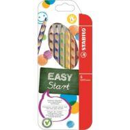 Stabilo EasyColour háromszögletű színes ceruza készlet - 6 db/csomag - Easy Start balkezes