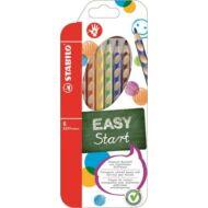 Stabilo EasyColour háromszögletű színes ceruza készlet - 6 db/csomag - Easy Start jobbkezes
