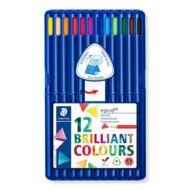 Staedtler háromszögletű színes ceruza készlet - 12 db/csomag - Ergo Soft Box