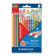 Staedtler háromszögletű színes ceruza készlet - 12+4 db/csomag - Noris Club