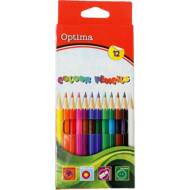 Optima hatszögletű színes ceruza készlet - 12 db/csomag