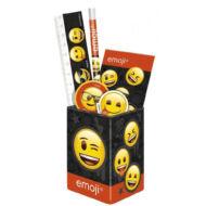 Emoji asztali ceruzatartó írószerekkel - Smiley suliszett 6 részes