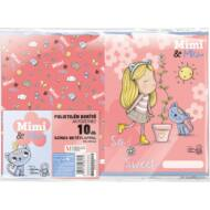 Mimi és Mo füzetborító A5 - 10 db/csomag - The sweet life