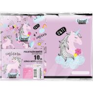 Unikornisos füzetborító A5 - 10 db/csomag - Lollipop Uni-cool