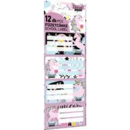 Unikornisos füzetcímke - Lollipop Uni-cool - 12 db / csomag