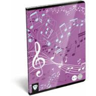 Kis bagoly hangjegyfüzet - A5 - Music Purple
