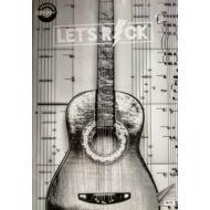 """Hangjegyfüzet A4 - """"86-32"""" - Let's rock - fekete-fehér gitáros"""