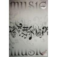 """Hangjegyfüzet A4 - """"86-32"""" - Music - fekete-fehér kotta"""