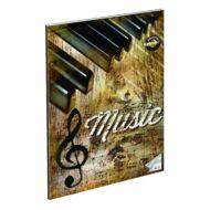 "Retro Music hangjegyfüzet A4 - ""86-32"" - zongora"