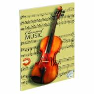 """Classical Music hangjegyfüzet A4 - """"86-32"""" - hegedű"""
