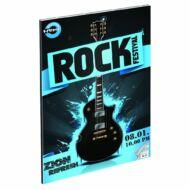 """Rock Festival hangjegyfüzet A4 - """"86-32"""" - gitár"""