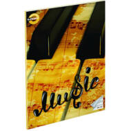 Music hangjegyfüzet - A5 36-16 - barna