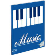 Music billentyűk hangjegyfüzet - A5 36-16 - kék