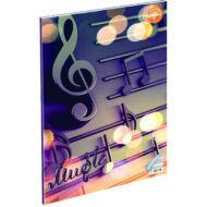 Music hangjegyfüzet - A5 36-16 - lila
