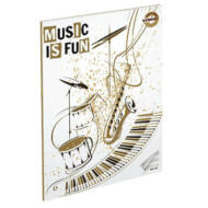 Music is fun A5 hangjegyfüzet énekfüzet