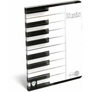 Kis bagoly hangjegyfüzet - A5 - Music Piano