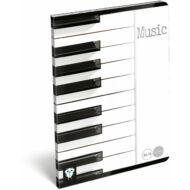 Music Piano zongora hangjegyfüzet