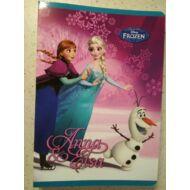 Jégvarázs vonalas füzet - A5 - 2. osztályos - Anna és Elsa