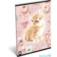 Cicás kockás füzet - A4 - 87-32 - Kis Bagoly Candy Cat