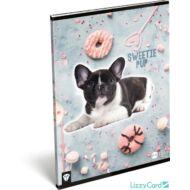 Kutyás kockás füzet - A4 - 87-32 - Kis Bagoly Sweetie Pup