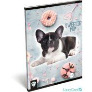 Kutyás kockás füzet - A5 - 27-32 - Kis Bagoly Sweetie Pup