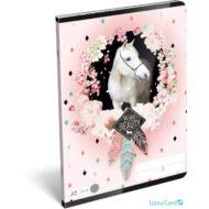 Lovas kockás A5 füzet 27-32 - Wild beauty rose