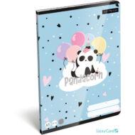 Panda-unikornisos kockás A5 füzet 27-32 - Lollipop Pandacorn