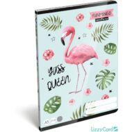 Flamingós kockás füzet - A5 - 27-32 - Lollipop Funmingo