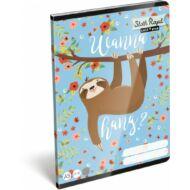 Lollipop Sloth Royal lajháros kockás füzet