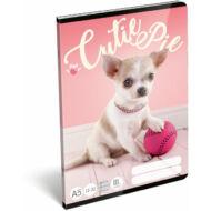 Pet Cutie Pie vonalas füzet - A5 - 3. osztályos - kutyás