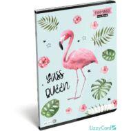 Flamingós sima füzet - A4 - 80-32 - Lollipop Funmingo