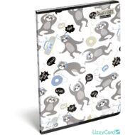 Lajháros sima füzet - A4 - 80-32 - Lollipop Sloth Vibes