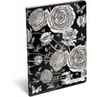 Virágos sima füzet - A4 - 80-32 - Cornell Juliette Jones