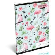 Flamingós sima füzet - A5 - 20-32 - Lollipop Funmingo