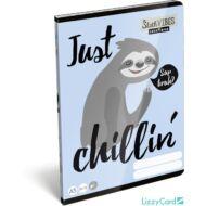 Lajháros sima füzet - A5 - 20-32 - Lollipop Sloth Vibes
