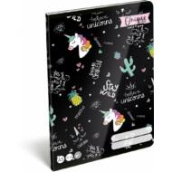 Lollipop Uniqueorn unikornis sima füzet - A5 - 20-32 - Egyszarvús